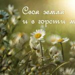 Смысл пословицы «Cвоя земля и в горсти мила»